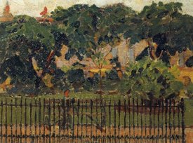 Spencer Frederick Gore - The Park Railings, Mornington Crescent