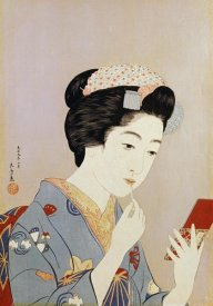 Hashiguchi Goyo - A Maiko Applying Rouge To Her Lips