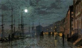 John Atkinson Grimshaw - City Docks By Moonlight