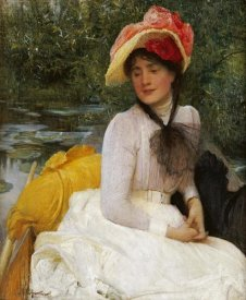 Arthur Hacker - Girl In a Punt