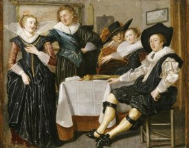 Dirck Hals - A Merry Company In An Interior