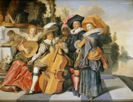 Dirck Hals - Elegant Figures Making Music