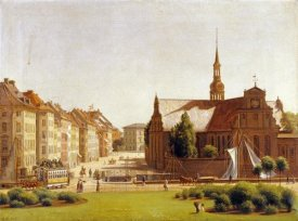 Constantin Hansen - The Palace Square, Copenhagen