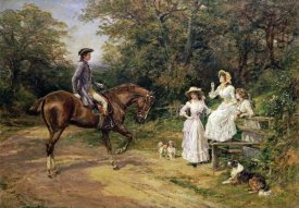 Heywood Hardy - A Meeting By The Stile