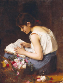 Alexei Alexeiewitsch Harlamoff - A Girl Reading