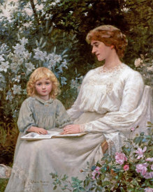 Edwin Harris - Portrait of a Mother and a Daughter