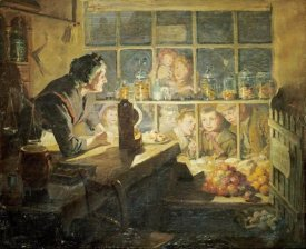 Ralph Hedley - The Village Sweet Shop