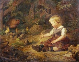 Hans Adolf Hornemann - Feeding The Chickens