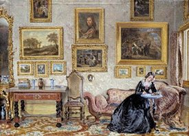 William Henry Hunt - Interior of a Drawing Room