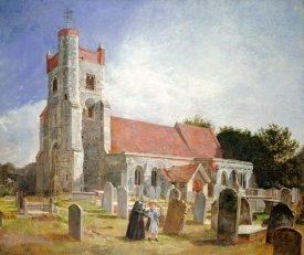 William Holman Hunt - The Old Church, Ewell