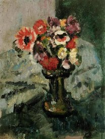 George Leslie Hunter - Anemones and Other Flowers In a Vase