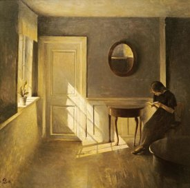 Peter Ilsted - A Girl Reading In An Interior