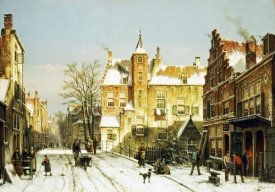 Willem Koekkoek - A Dutch Village In Winter
