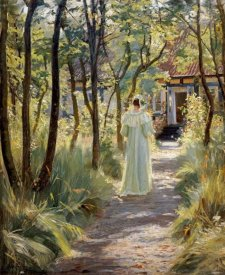 Peter Severin Kroyer - Marie In The Garden