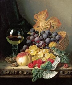 Edward Ladell - A Basket of Grapes, Raspberries