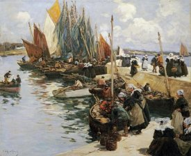 Fernand Marie Eugene Legout-Gerard - Unloading The Catch