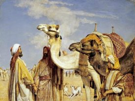 John Frederick Lewis - Greetings In The Desert, Egypt