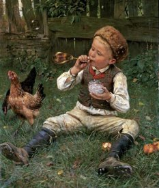 Adolf Lins - Blowing Bubbles