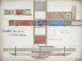 Charles Rennie Mackintosh - Florence, San Miniato, Studies of Decorative Ceiling Panels