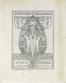 Margaret Macdonald Mackintosh - Design for a Bookplate, 1896