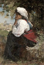 Jacob Henricus Maris - A Roman Girl