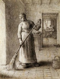 Jean-Francois Millet - Woman Sweeping Her Home