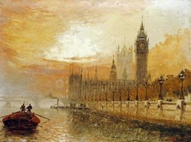 Claude T Stanfield Moore - View of Westminster From The Thames