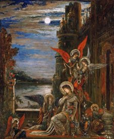 Gustave Moreau - Saint Cecilia. (The Angels Announcing Her Coming Martyrdom)