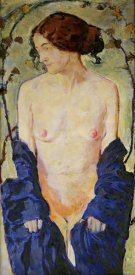 Koloman Moser - Standing Nude with Blue Robe