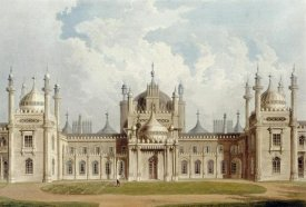 John Nash - West Front. The Royal Pavilion at Brighton