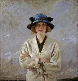 Sir William Orpen - Girl In a Blue Hat
