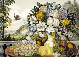 Frances Flora Bond Palmer - Landscape, Fruit and Flowers