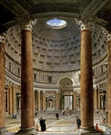 Giovanni Paolo Pannini - The Interior of The Pantheon, Rome