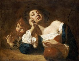 Giovanni Battista Piazzetta - A Shepherdess With a Gourd