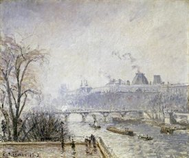 Camille Pissarro - The Louvre and The Seine From The Pont Neuf - Morning Mist