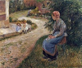 Camille Pissarro - The Maid Sitting In The Garden at Eragny