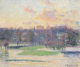 Camille Pissarro - Flood at Sunset