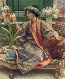 Sir Edward John Poynter - A Hot-House Flower