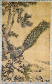 Shen Quan - Bamboo, Pine and Peacocks