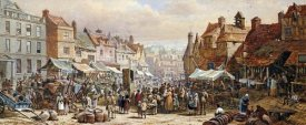 Louise Rayner - Market Day, Ashbourne, Near Derby