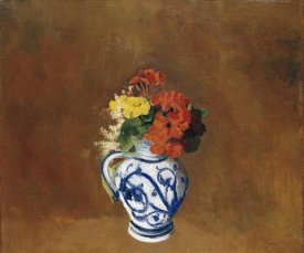 Odilon Redon - Geraniums and Other Flowers