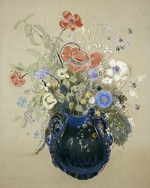 Odilon Redon - A Vase OF Blue Flowers