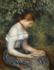 Pierre-Auguste Renoir - The Reader (A Young Girl Seated)