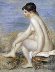Pierre-Auguste Renoir - A Seated Bather