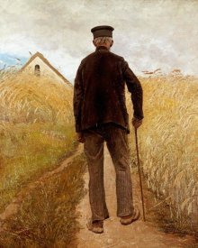 Laurits Andersen Ring - Old Man Walking In a Rye Field