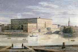 Martinus Rorbye - The Royal Palace, Stockholm