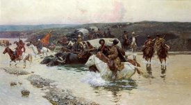 Franz Alekseevitch Roubaud - Tcherkess Convoy Crossing a River