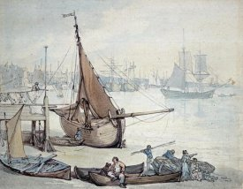 Thomas Rowlandson - Low Tide at Greenwich