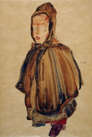 Egon Schiele - Woman With Bonnet