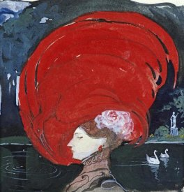 Leo Schnug - A Lady In a Large Red Hat